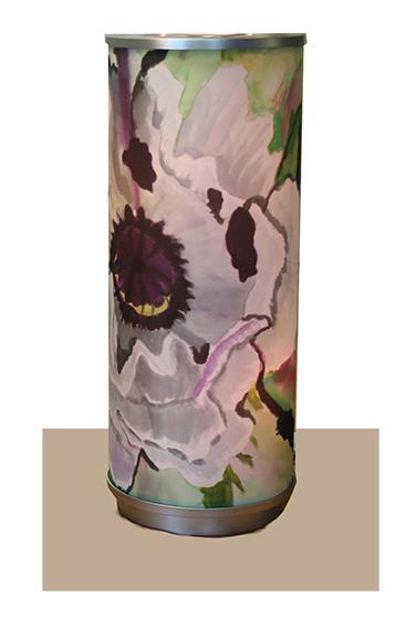 White Oriental Poppy Lamp