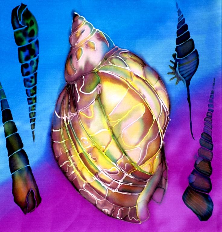 """Shells  1999,""""20X20""""  $550"""