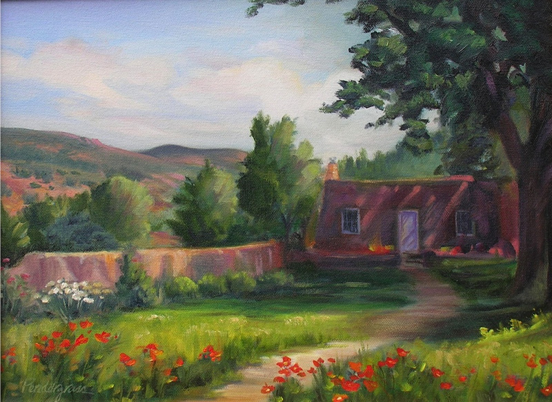 """Hidden Casita""    Oil      12"" x 16""    SOLD"