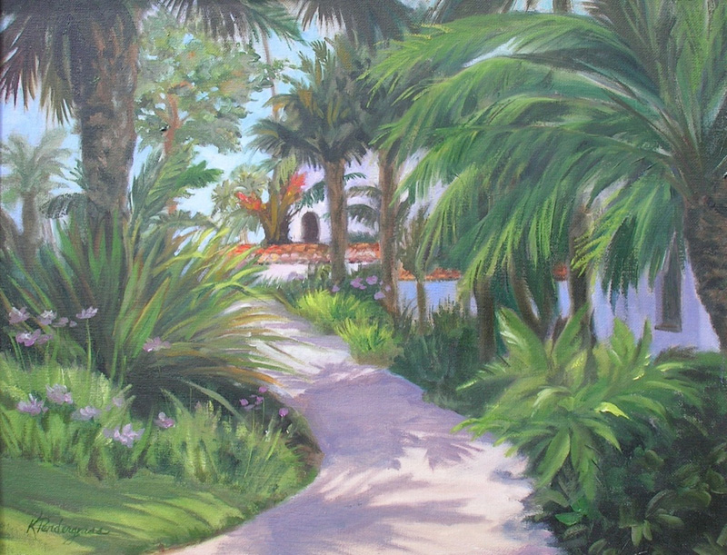 """Pathway to Paradise"" Oil 16"" x 20""    SOLD"