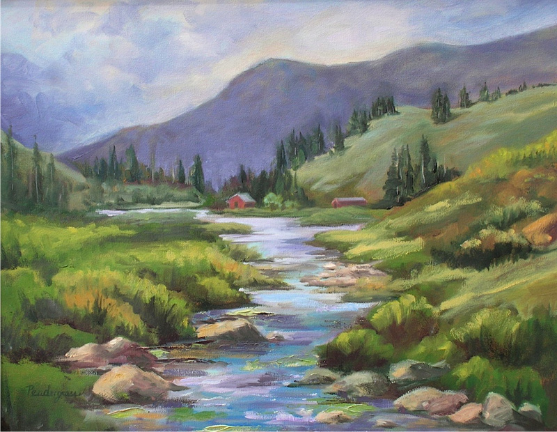 """Taos Stream""    Oil      16"" x 20""    SOLD"