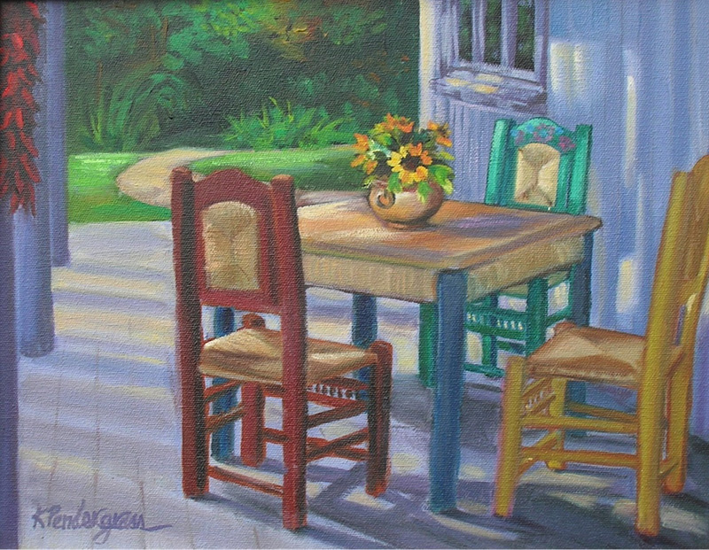 """On the Porch""    Oil      11"" x 14"""