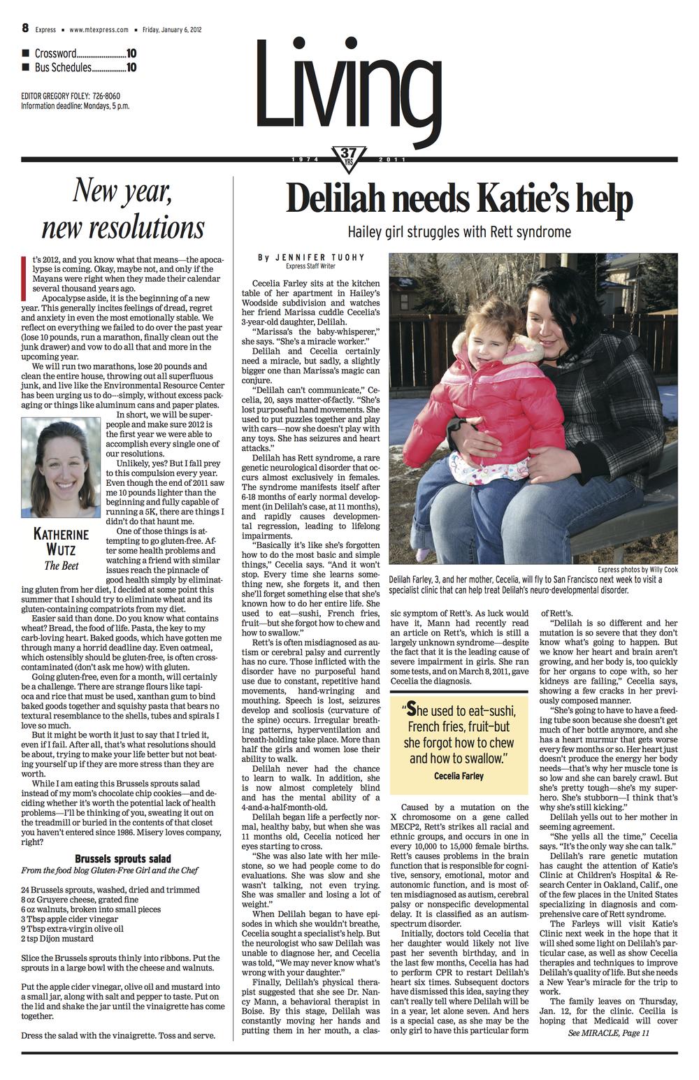 Delilah Needs Katie's Help