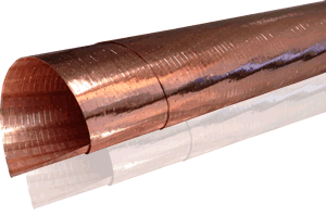 Copper Low-E Film.  Laminated to a reinforcing scrim.