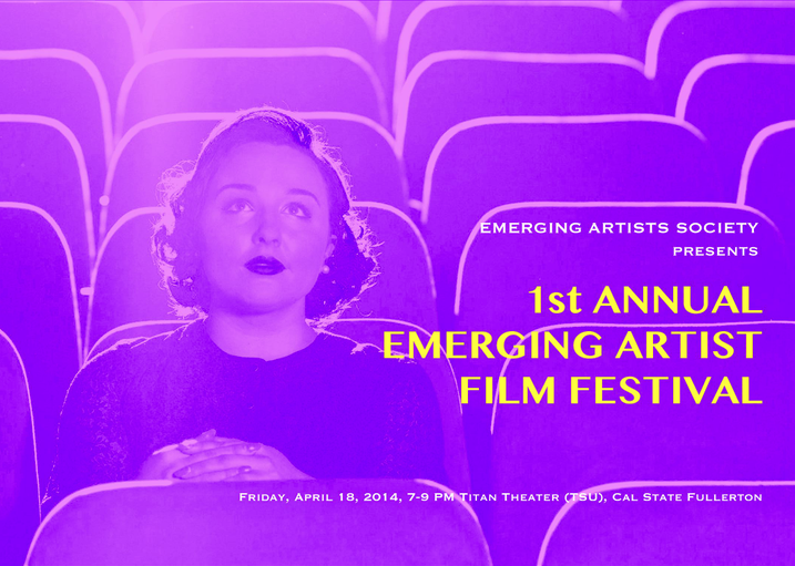 Emerging Artist Film Festival Screening: Friday April 18, 2014 7-9 PM, Titan Theater, Cal State Fullerton I had a fantastic time co-curating and hosting this festival!