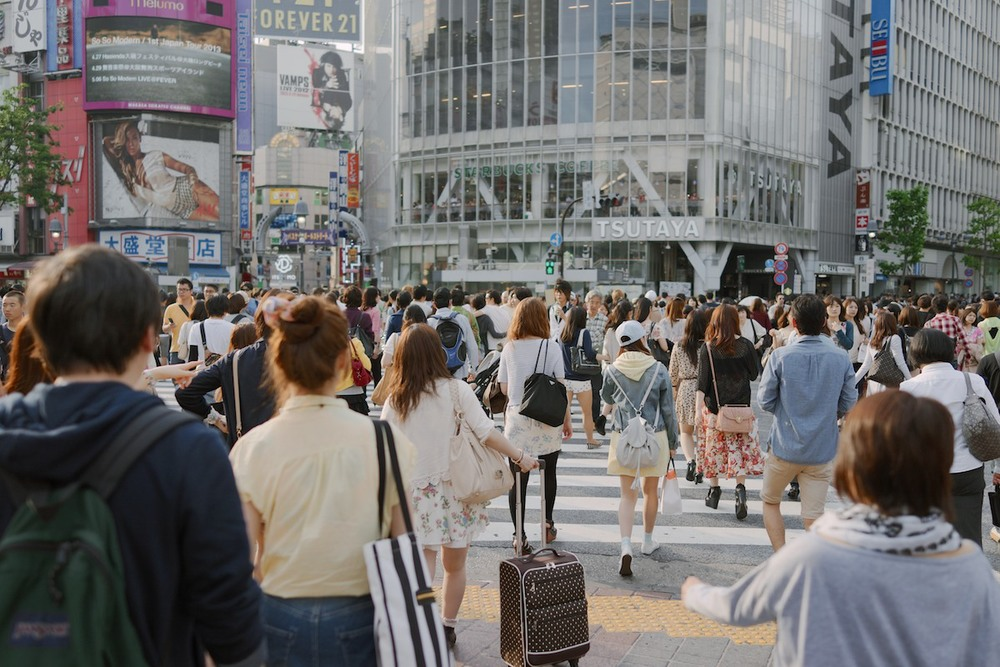 The great Shibuya crossing.