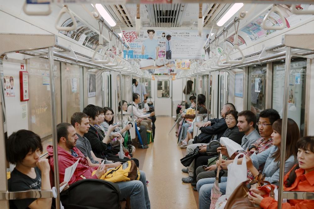 Subway passengers.