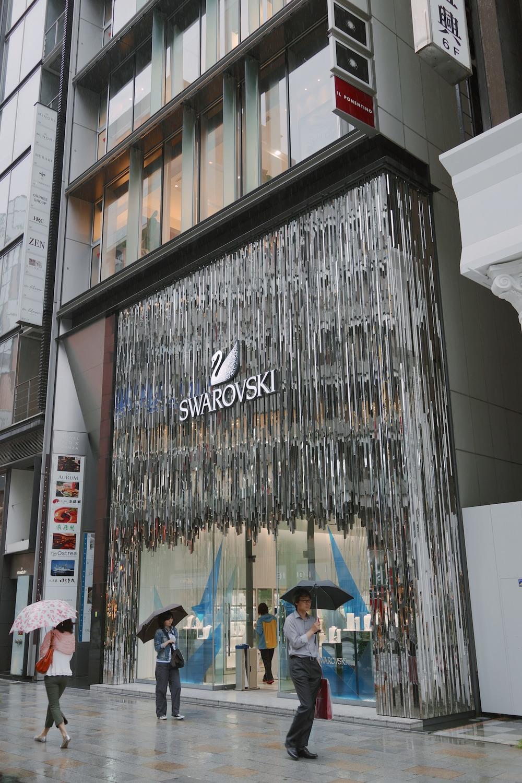 The Swarovski facade designed by Tokujin Yoshioka.