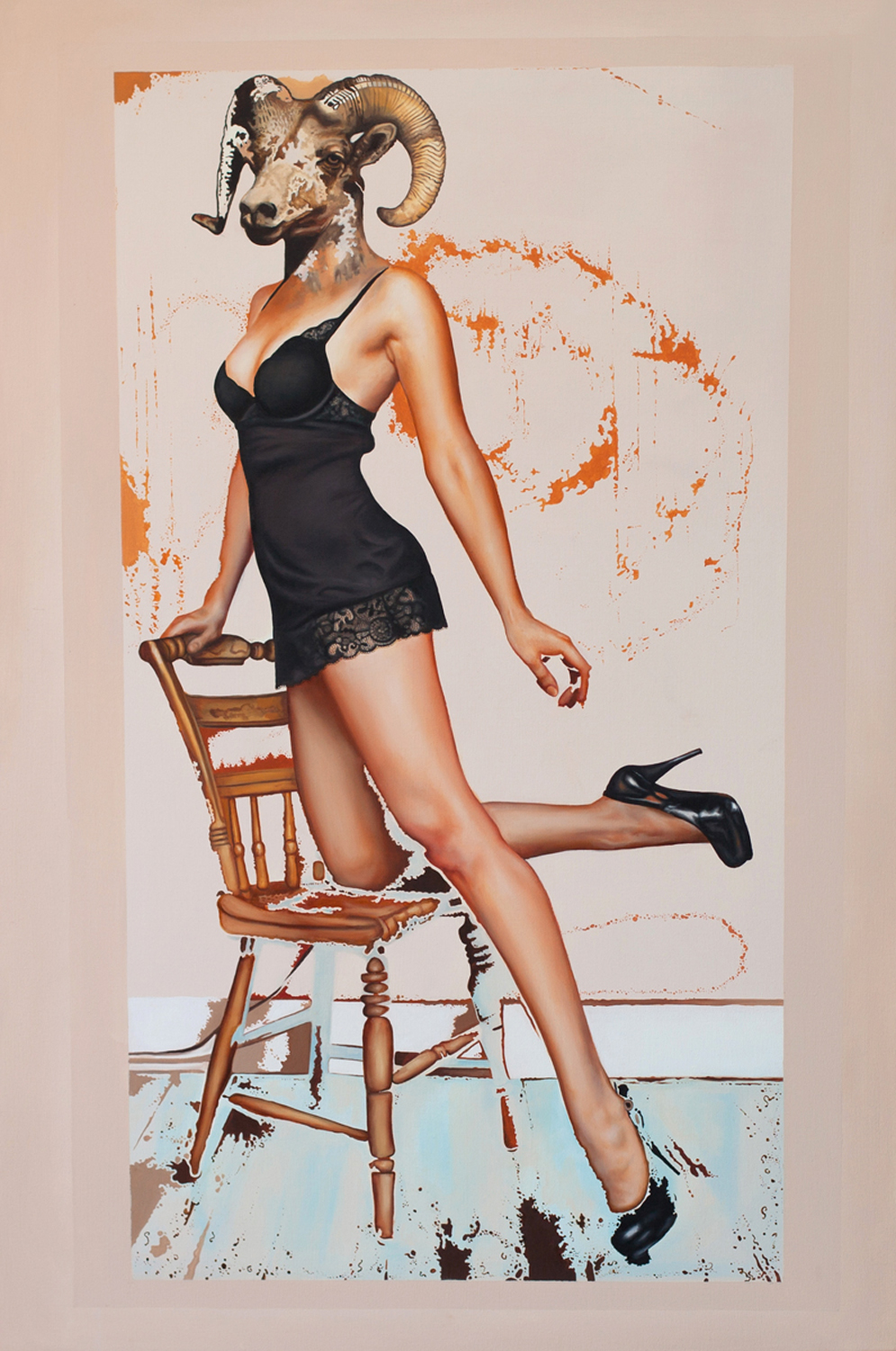Contessa, 2012, oil on canvas, 32 x 48""