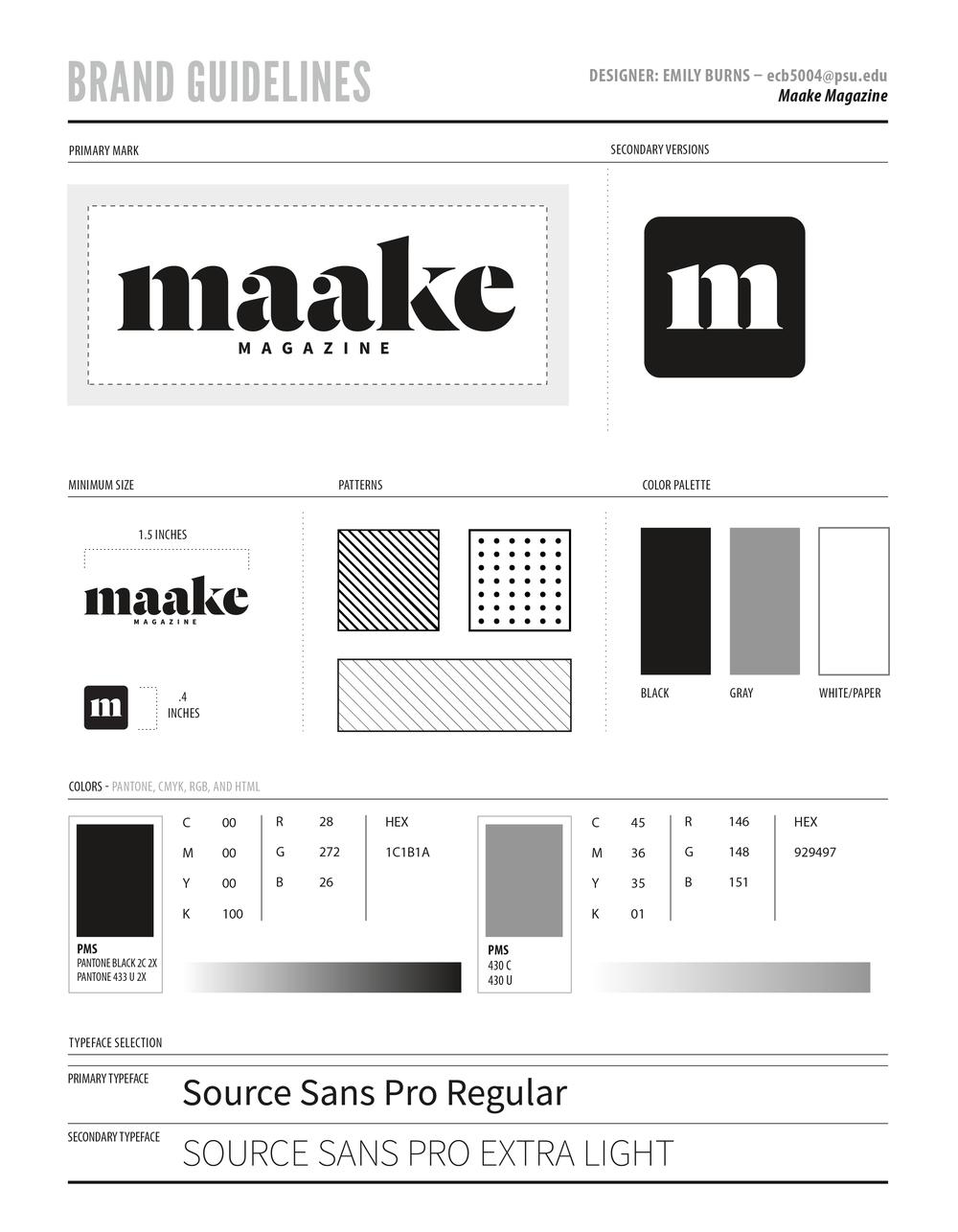 Maake Magazine brand guidelines