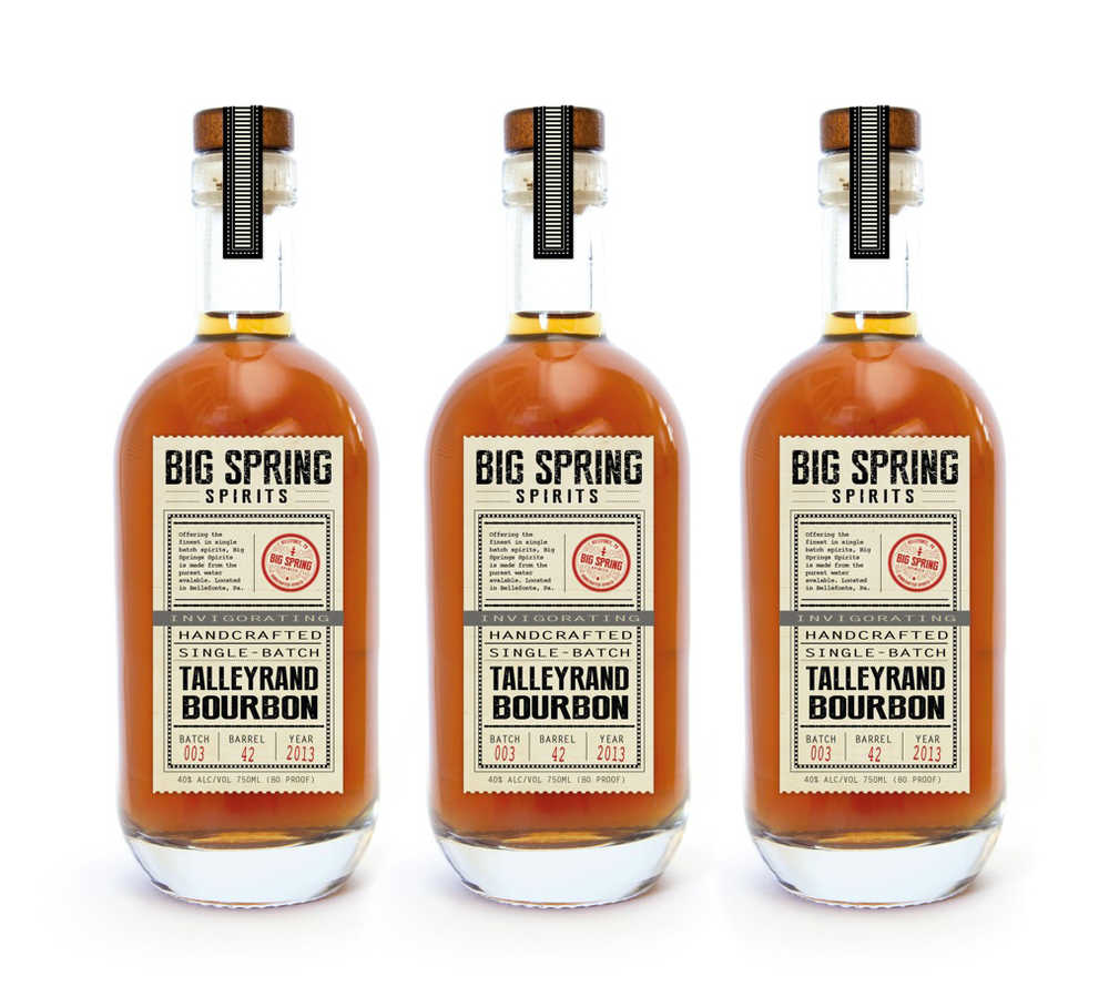 Package Design for Big Spring Spirits