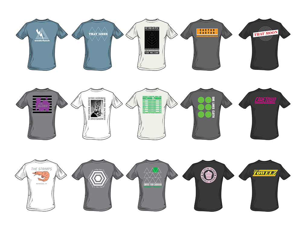 T-Shirt design mockups