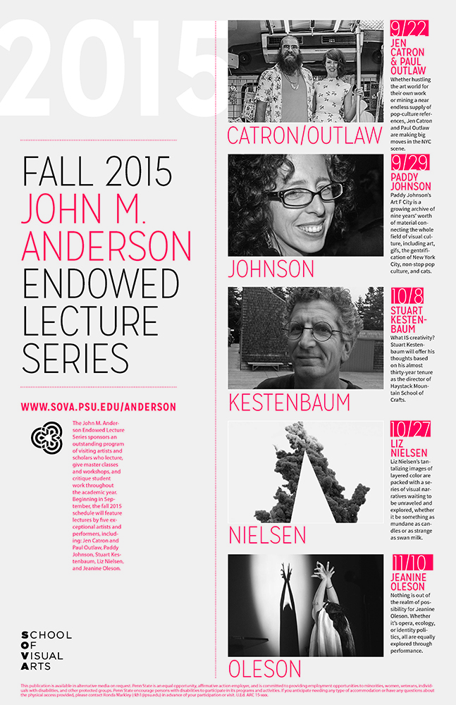 Graphic design: Anderson Lecture Series poster