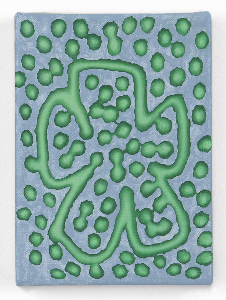 Emily Burns   Slime Diamonds,  2016 Oil on canvas over panel 5 x 7 inches