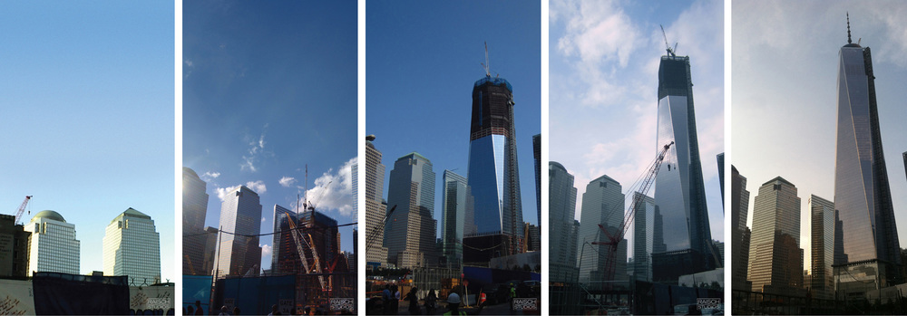 The reclaiming of 16 acres in Lower Manahattan to the rise of One World Trade Center. © Raisch Studios, 2002-2013