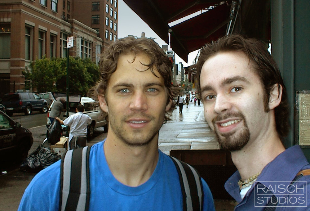 Paul Walker and Michael Raisch seen in Chinatown New York City, June 12, 2002