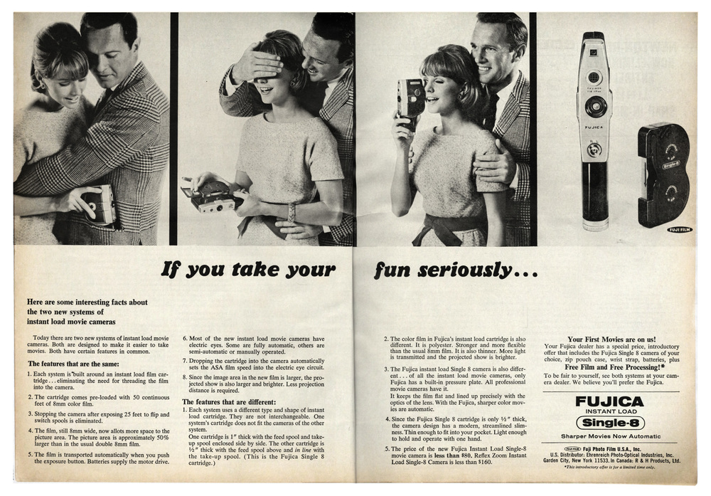 1966 Fujica SIngle-8 Full Spread Ad