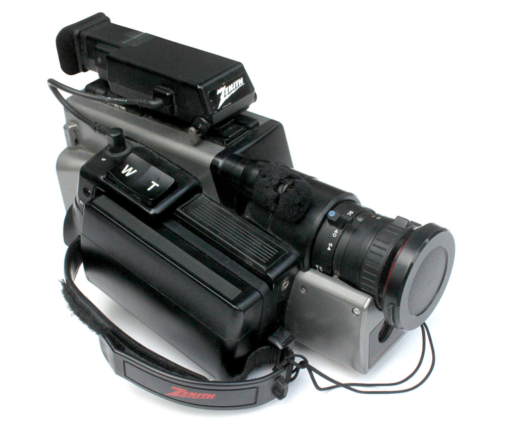 Zenith VHS Video Camcorder we filmed on.