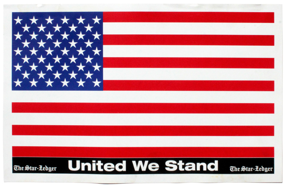 Original 'United We Stand' Patriotic signage, The Star Ledger 2001