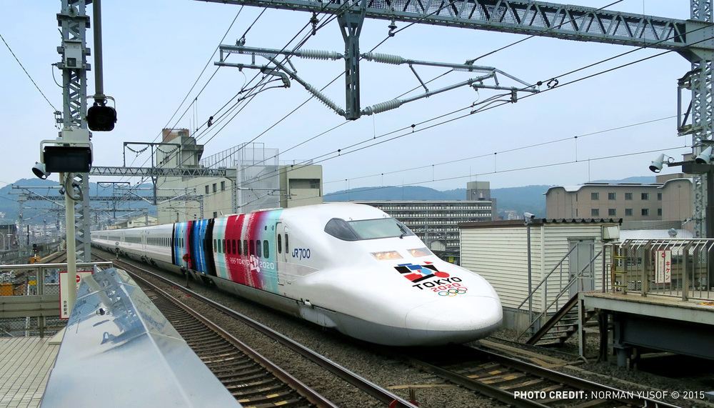 Shinkansen Train at Kyoto Station