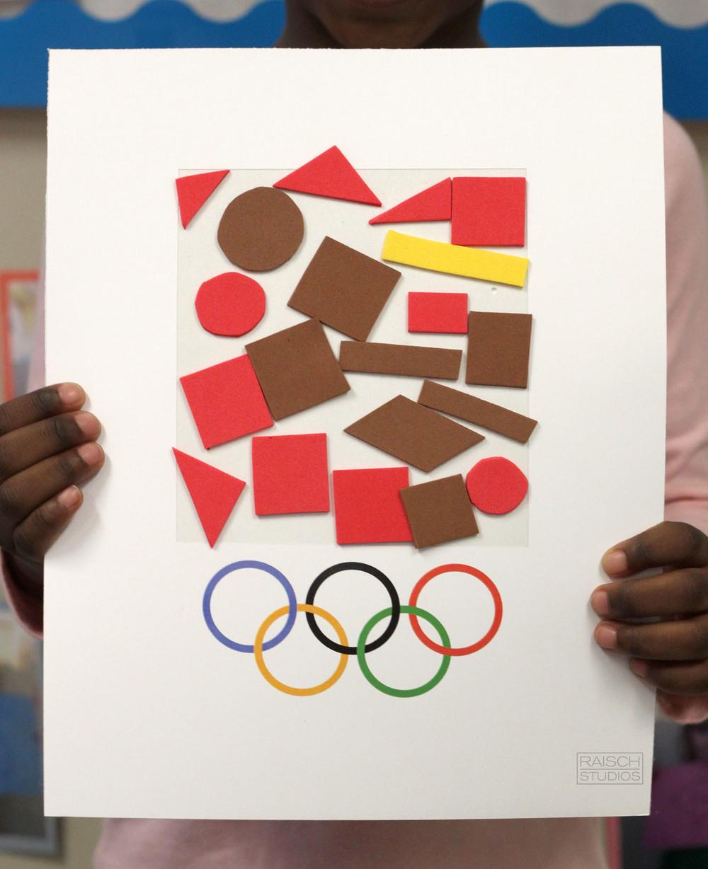 Kendra, Olympic Logo, Age 4