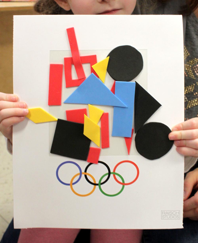 Eva, Olympic Logo Design, Age 3