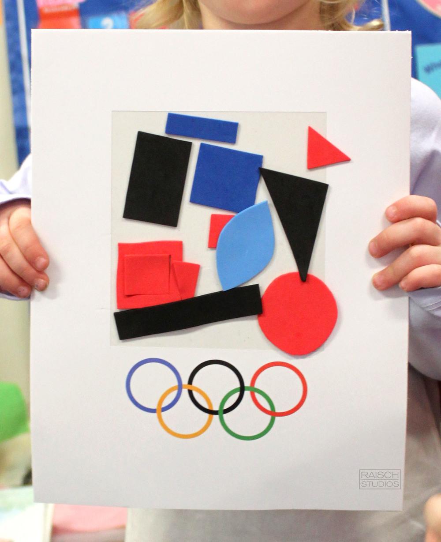 Hayley, Olympic Logo, Age 3