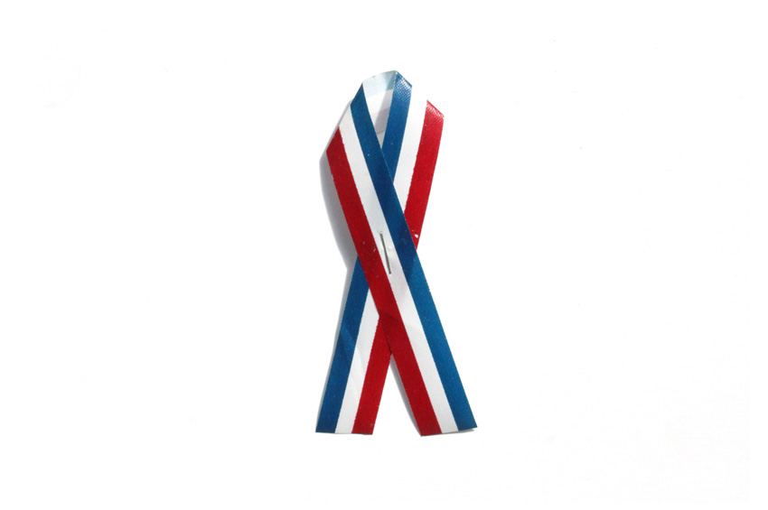 Original 2001 September 11th Memorial Ribbon, Handmade