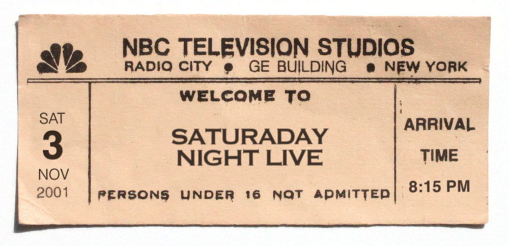 SNL Stand By Ticket, Artist's recreation