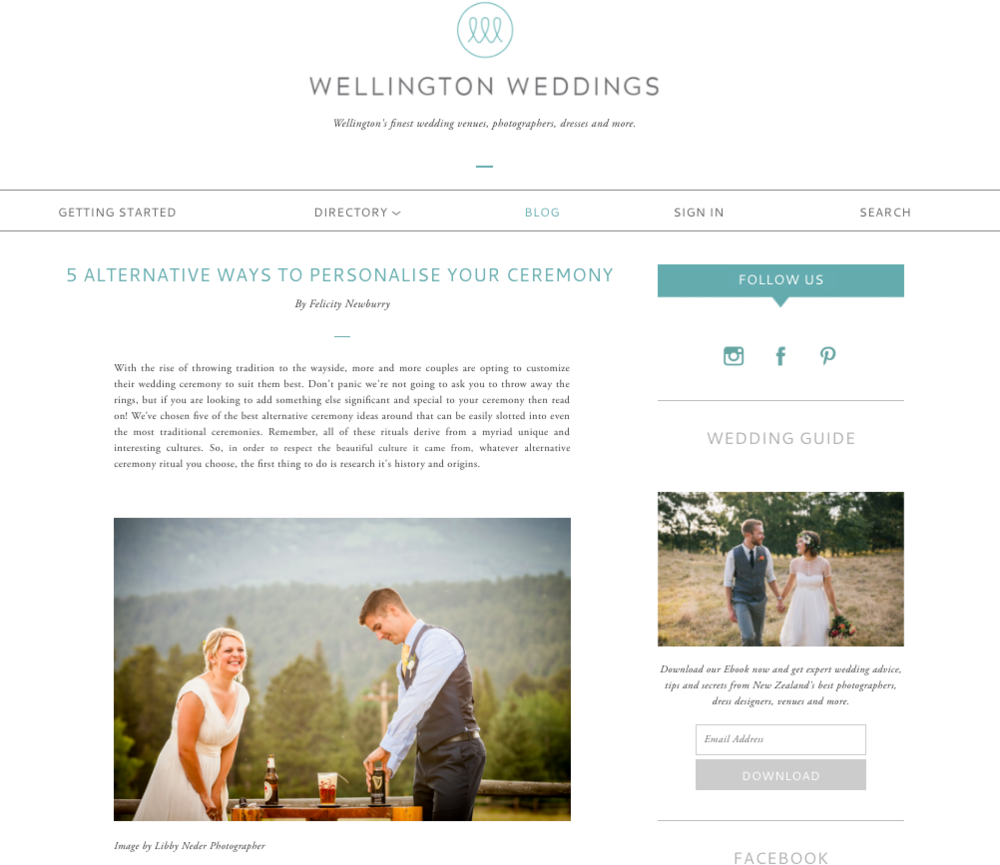 Wellington Weddings NEW ZELAND
