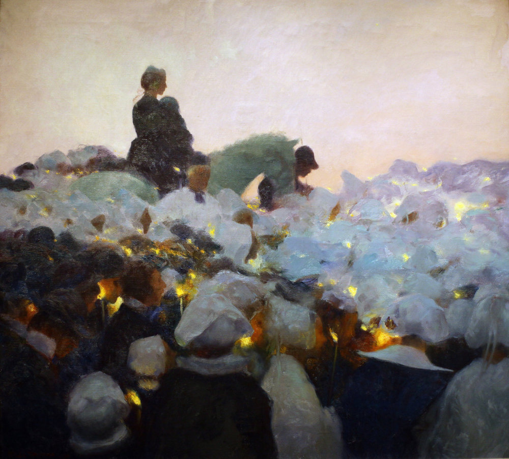 Gaston La Touche-Pardon in Brittany I love this one for the light and color