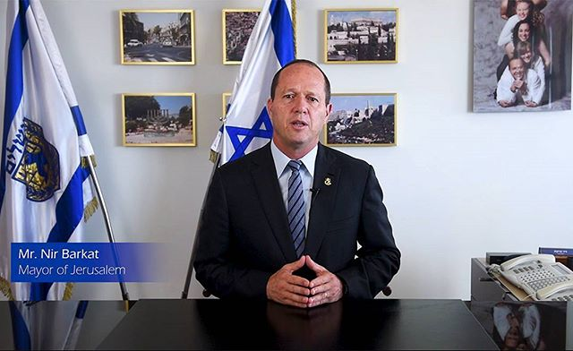 Shooting a video of Nir Barkat, mayor of Jerusalem at his office at the city hall. On-location lighting gear, audio equipment, a teleprompter, cameras and what not... Turned out great!