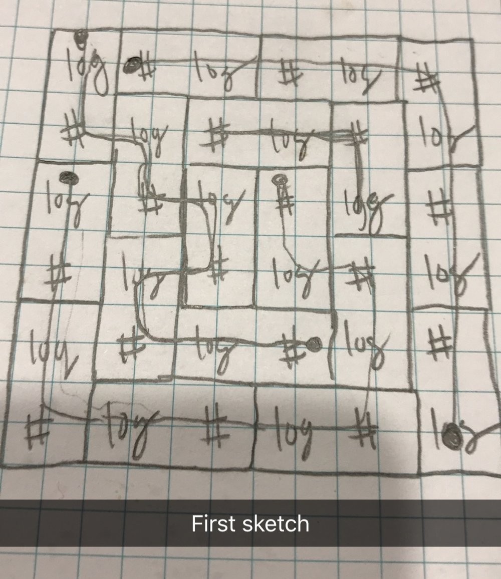 I STARTED WITH A DRAFT ON GRAPH PAPER.