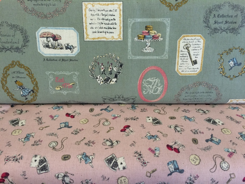 Alice in Wonderland linens by Kokka