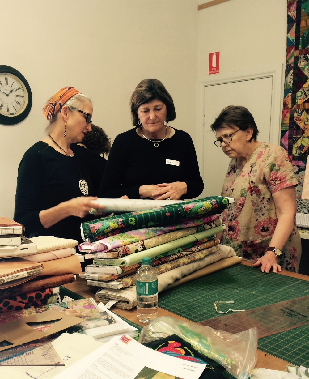 Kathy, Helen, & Lorraine making very considered decisions.