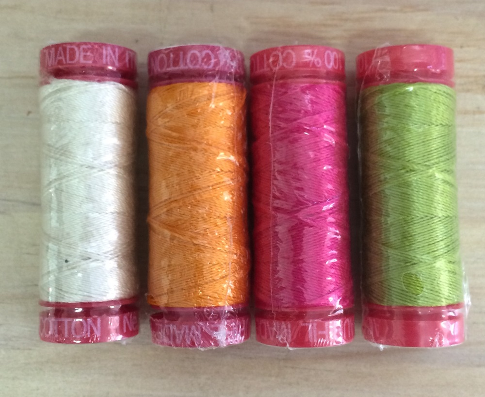 The 'bright' pack of Aurifil thread.