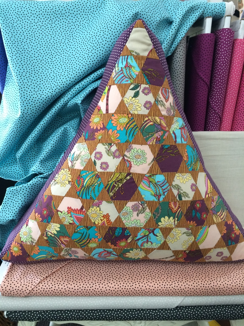 Helen's Triangle cushion