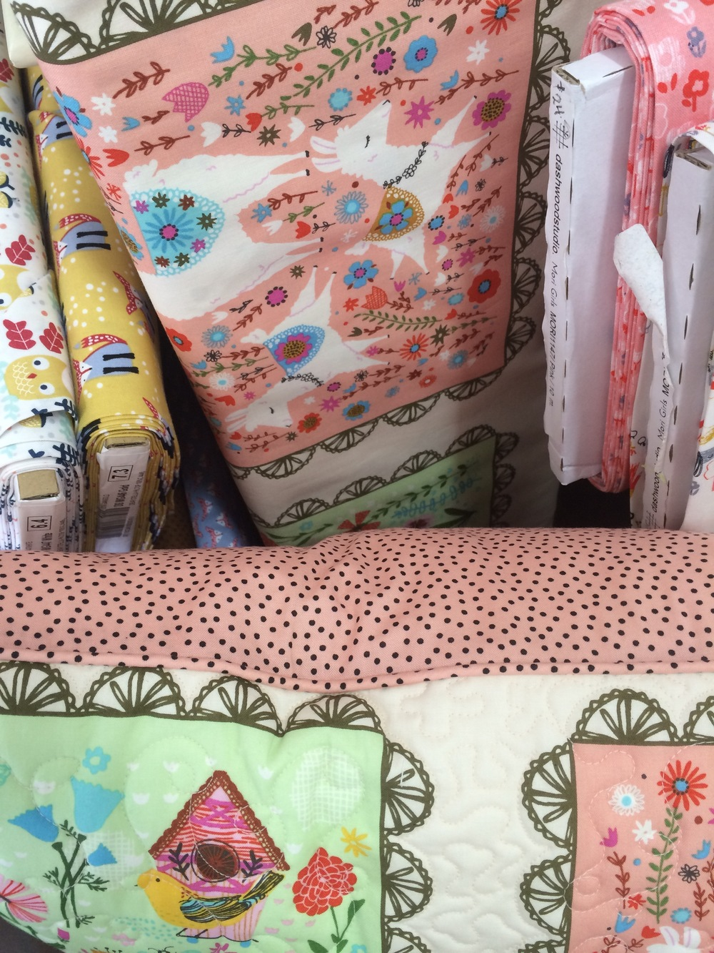 The cushion is backed with Jen Kingwell's Just a Speck fabric.