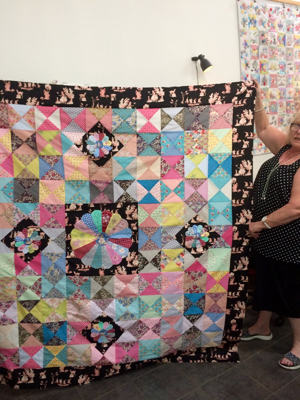 Mary-Ann and her stunning Into the Woods quilt.