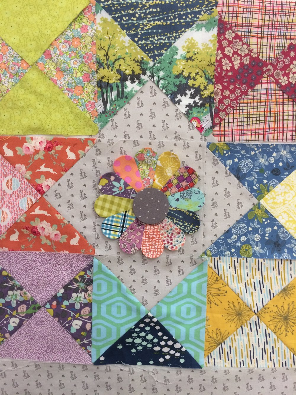 Ali has started her journey Into the Woods, and her fabrics are gorgeous!