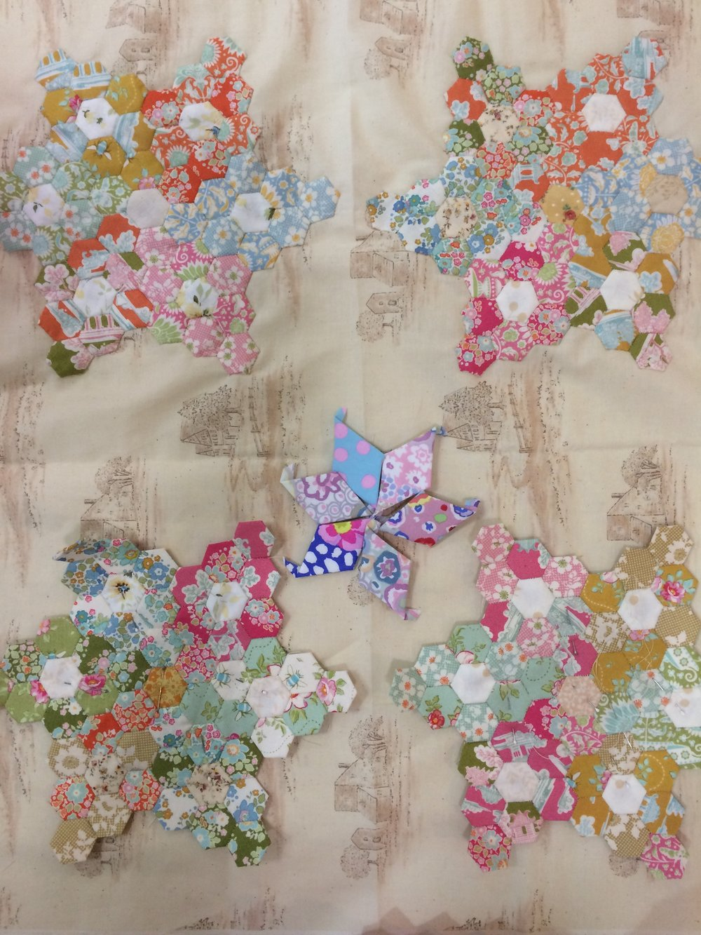 Judith is inspired by a quilt, from Marg's Take and Element book and is using lovely Tilda.