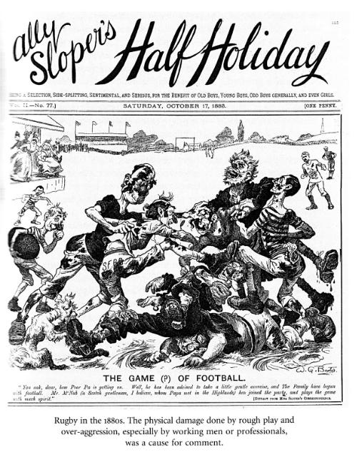 Rugby or Soccer in 1888? Image from Mike Huggins'  Victorians and Sport.