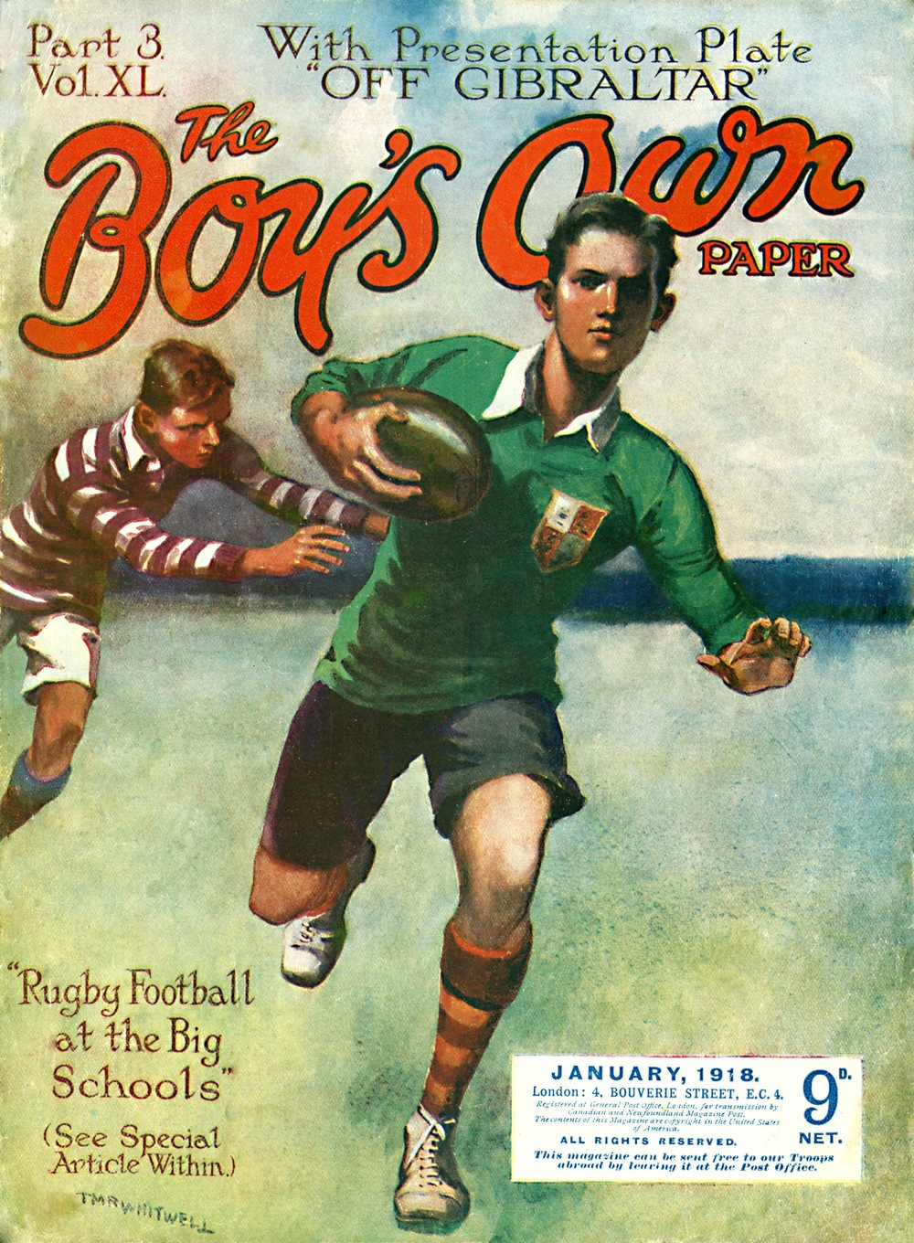 'Rugby Football at the Big Schools'. In 2015 as in 1918?