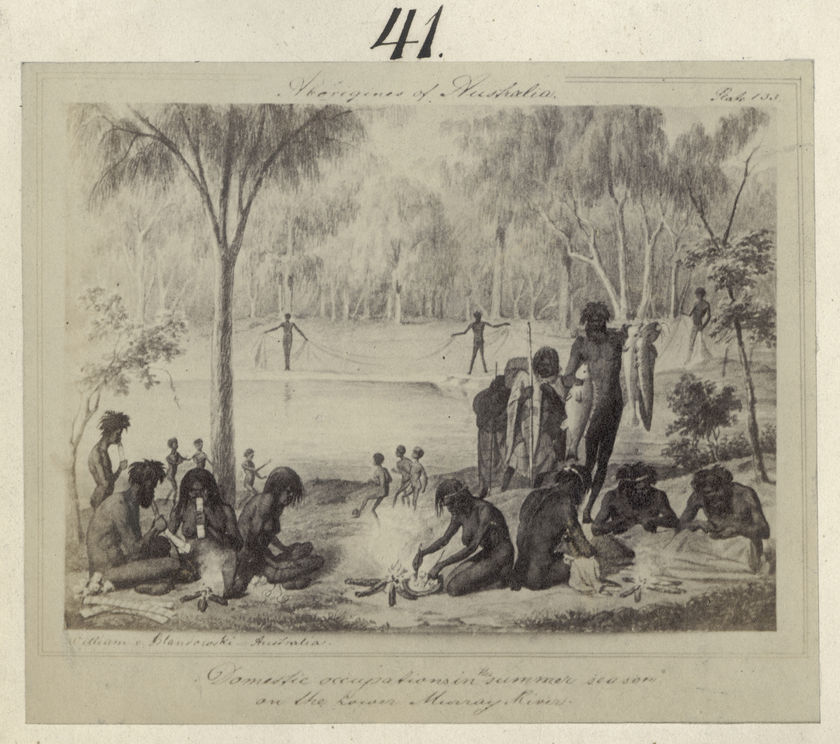 Aboriginal people playing Marn Grook. It is an early form of Aussie Rules? Or a kind of soccer? Or a precursor of a rugby league kicking duel? Of course it is none of these - and why should it be? William Blandowski's  Australien in   142 Photographischen Abbildungen , 1857, (Haddon Library, Faculty of Archaeology and Anthropology, Cambridge)