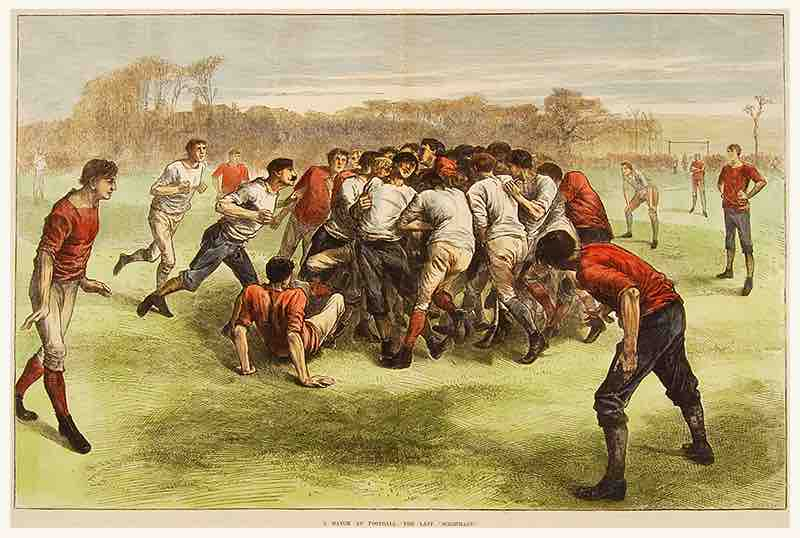 'A Match at Football: The Last Scrimmage' 1871.