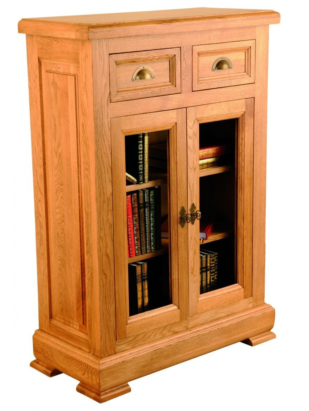 Low Hallway Cabinet with Glazed Doors 511340