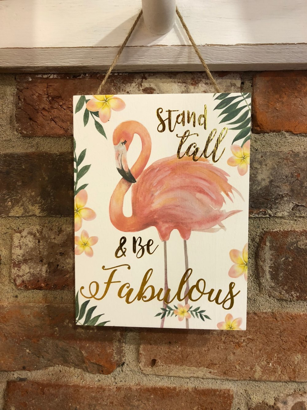 Fabulous Flamingo Sign XNA001