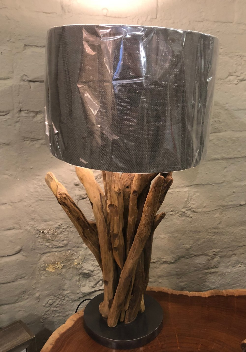 Natural Lamp Base With Shade SDY001