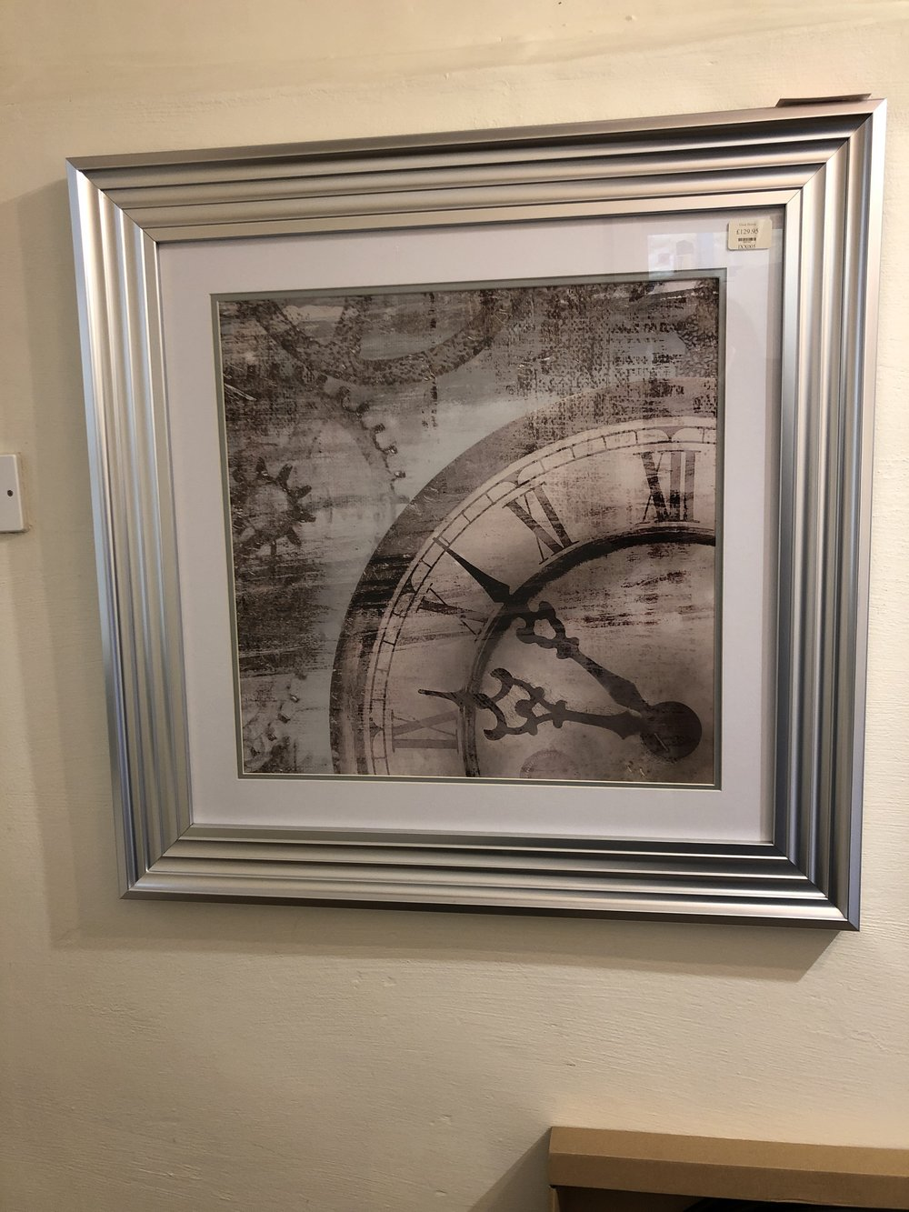 Clock picture IXX005 now £77.95 was £129.95