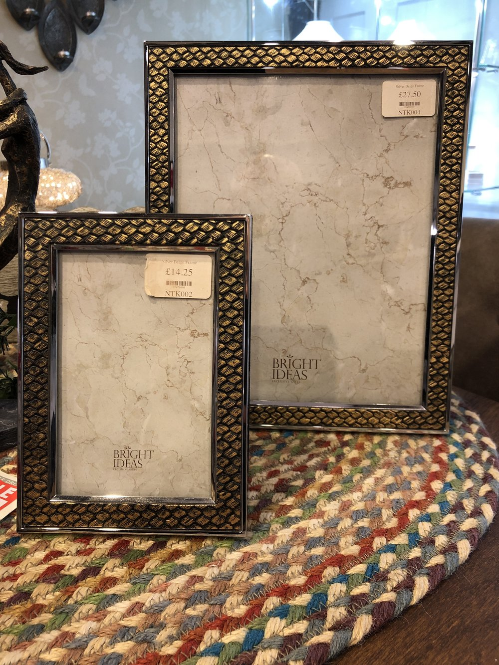 Weave effect photo frames Were £14.25 & £27.50, NOW £9.95 & £18.95